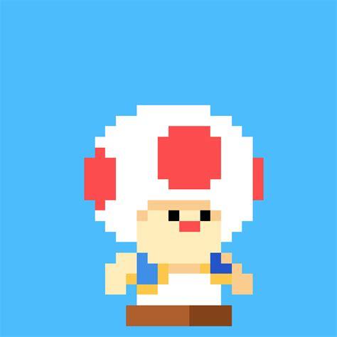 pixel art toad playing nintendo nes pixelated super gif nintendo mario pixel art toad pug of war