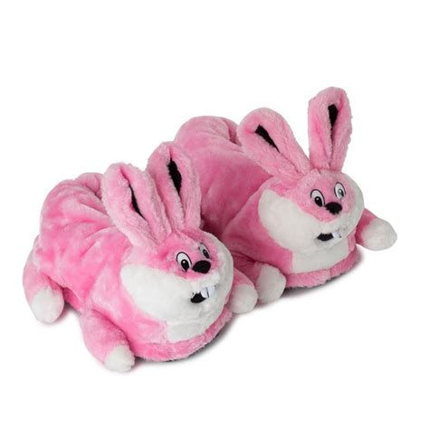 pink bunny slippers novelty pink bunny slippers size 39 40 41 funslippers