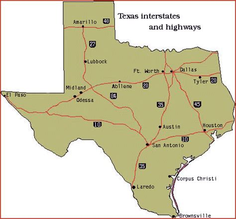 texas freeway map interstate highways of texas