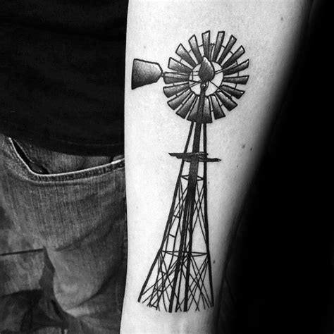 windmill tattoo 50 windmill designs for rotational ink ideas