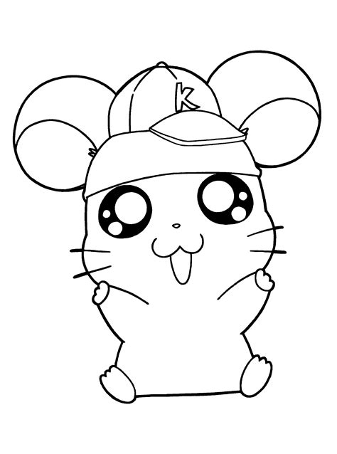 cute hamtaro coloring pages coloring page hamster in