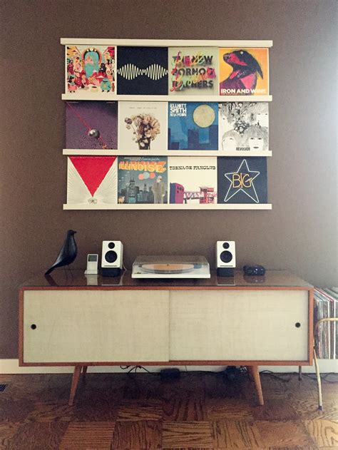easy diy modern vinyl record wall display ledge shelf