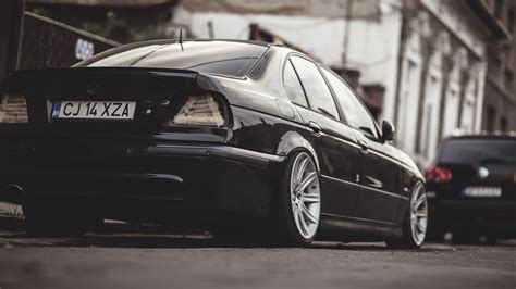 bmw e39 m5 black sports car bmw e 39 bmw m5 e39 black wallpapers hd