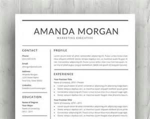 etsy templates resume template etsy