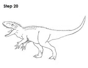 how to draw an indominus rex dinosaur
