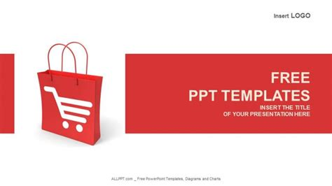shopping cart template shopping cart bag business powerpoint templates