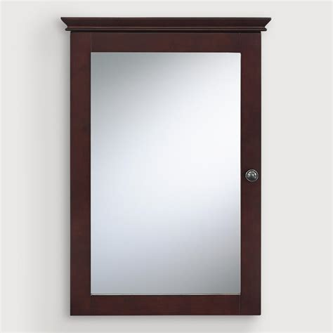 Mirrored Medicine Cabinet by Espresso Maryella Mirrored Medicine Cabinet World Market