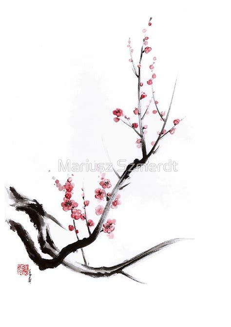 Sakura Duvet Quot Cherry Blossom Tree Sumi E Painting Sakura Art Print