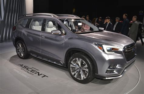 new subaru ascent aims to climb busy hill of crossover suvs