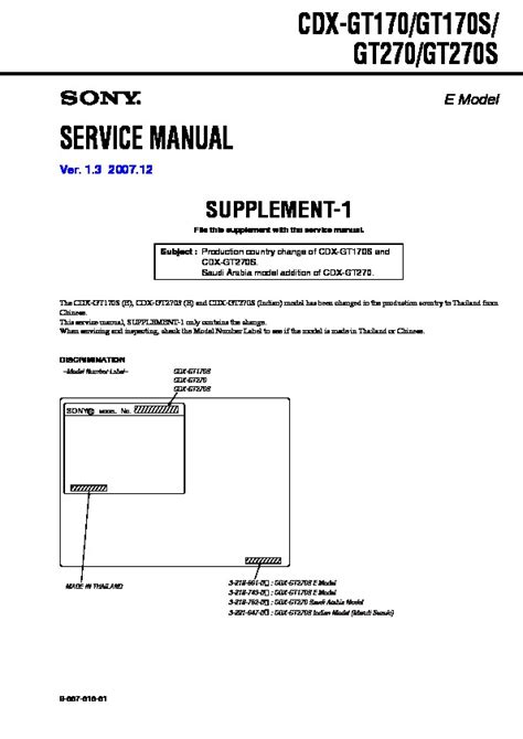 sony cdx gt270 wiring diagram 29 wiring diagram images
