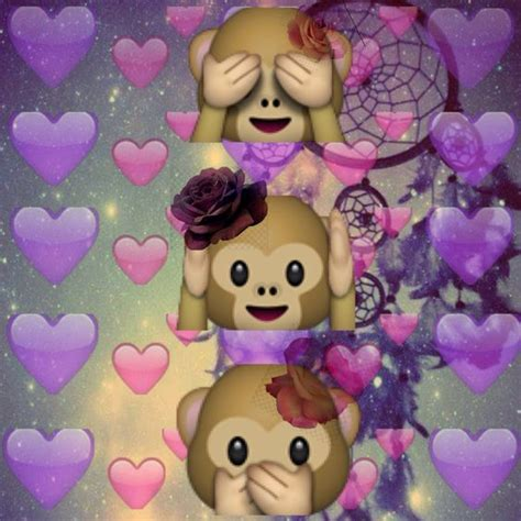 emoji edits wallpaper monkey hearts own edit emoji backgrounds pinterest