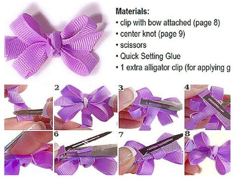 how to make hair bows written instructions how to add a center knot to a hair bow instructions