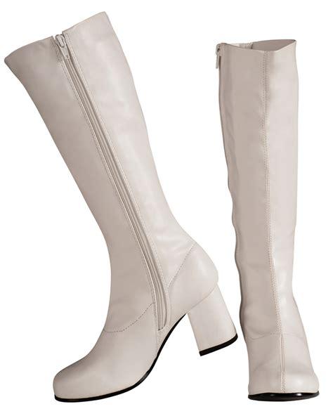 white go go boots s37 white black go go knee high gogo boots 1960s