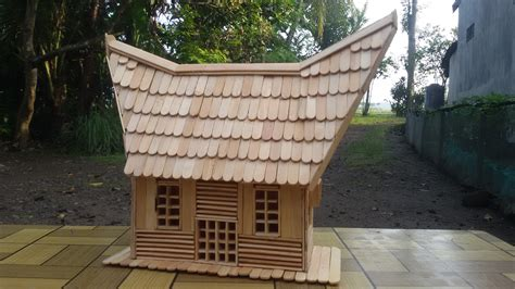 cara membuat rumah adat papua miniatur gambar rumah adat dari stik es gontoh