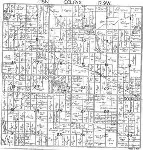 Michigan Plat Maps by 1918 Colfax Township Mecosta County Michigan Plat Map