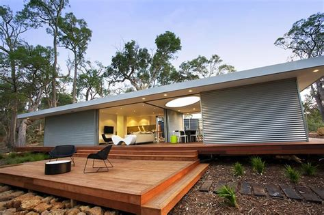 Small House Architects Australia Bachkit Prefab From New Zealand By Andre Hodgskin