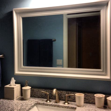 Framed Mirror In Bathroom Framed Bathroom Mirrors 145 Diabelcissokho