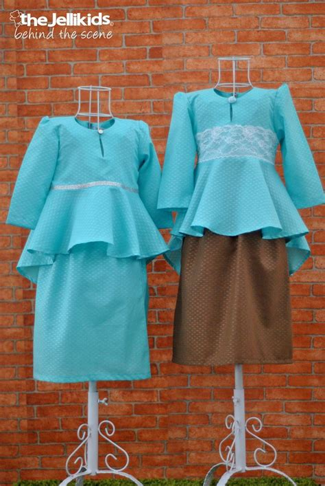 pattern baju baby the peplum kurungs in tiffany blue the jellikids