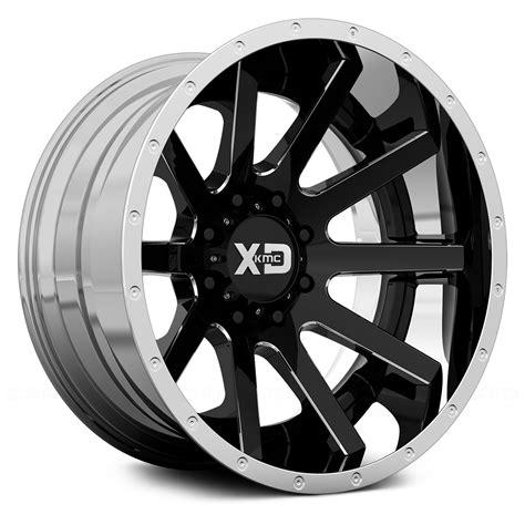 chrome xd wheels xd series 174 xd200 heist wheels black and milled center