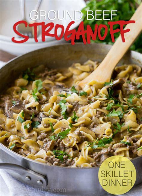 skillet ground beef stroganoff  wash  dry