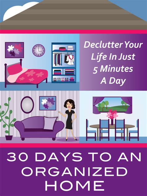 30 days to an organized home get organized wizard