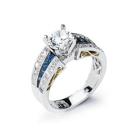 simon g and blue sapphire antique style platinum