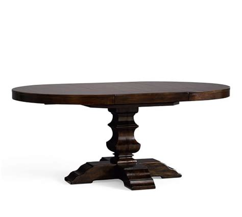 Pedestal Extending Dining Table Banks Extending Pedestal Dining Table Pottery Barn