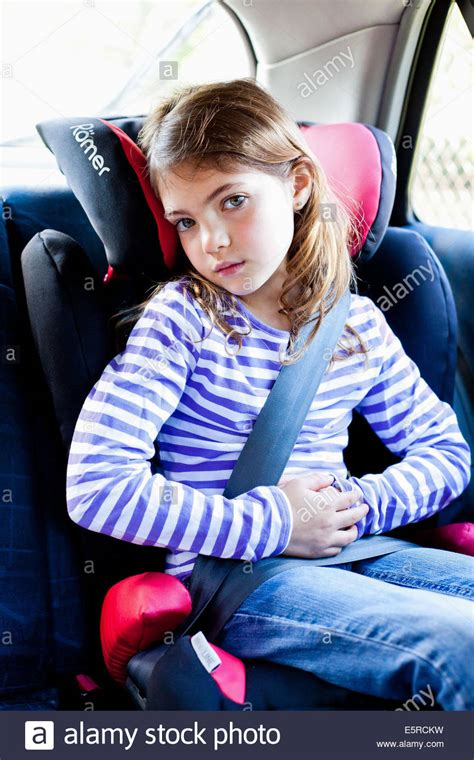 car seat for 7 year nz 7 year looking sick in a car stock photo
