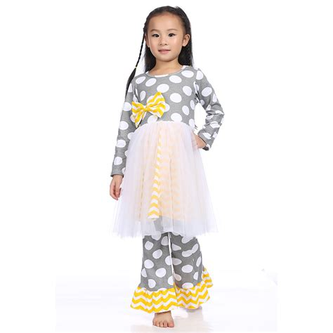 new clothes wholesale childrens boutique clothing set