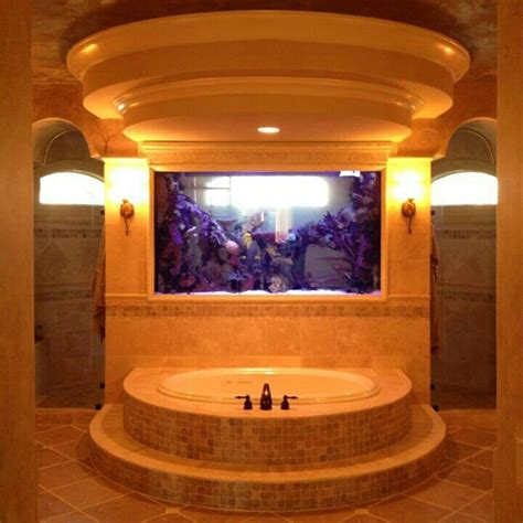 bathtub aquarium beautiful custom aquarium in a bathroom the shower is