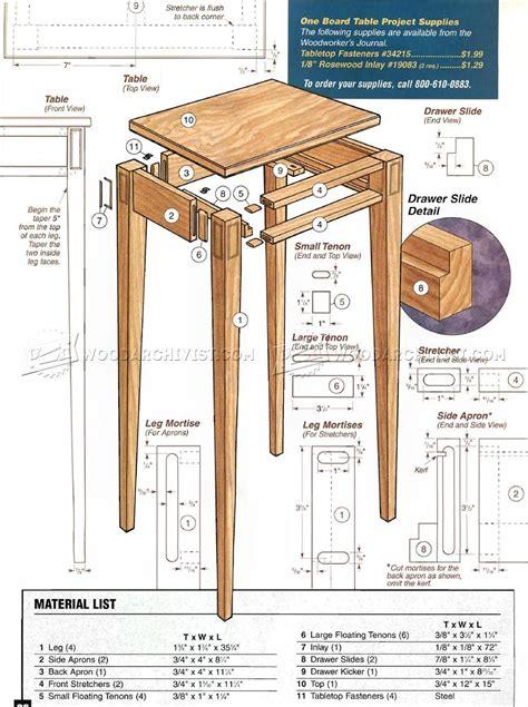 build hall table furniture plans diy furniture