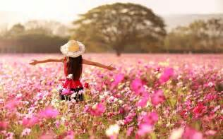 flowers in garden cute girl in flowers garden new hd wallpapernew hd wallpaper
