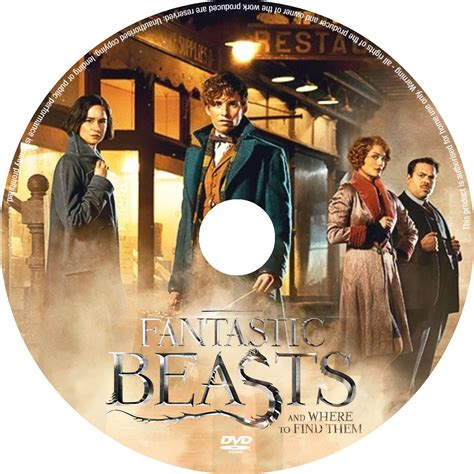 Where To Find Covers Fantastic Beasts And Where To Find Them Dvd Cover Label