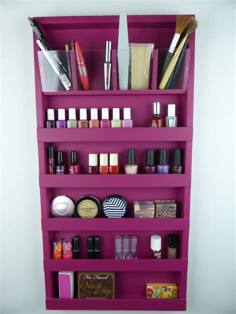 fuchsia pink makeup organizer bathroom storage pencil