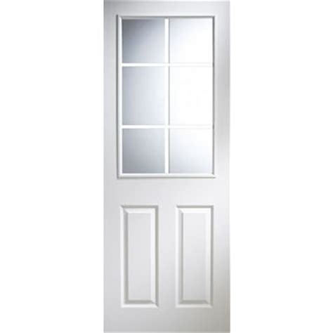 Pre Painted White Interior Doors 6 Panel Pre Painted White Glazed Door H 1981mm W 762mm Tradepoint
