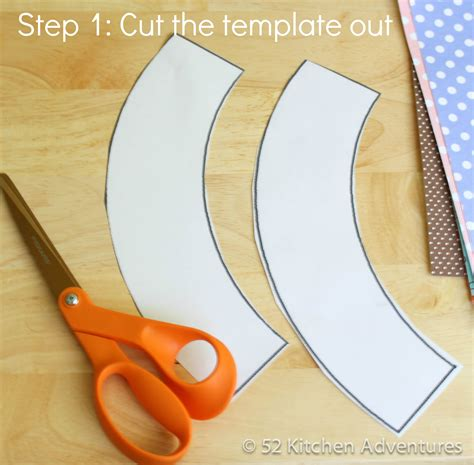 How To Make Cupcake Holders With Paper - step 1 cut the template out 52 kitchen adventures