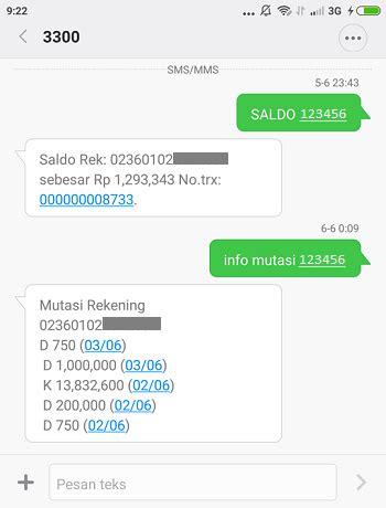 format cek mutasi sms banking bni cara sms banking bri transfer cek saldo mutasi beli pulsa