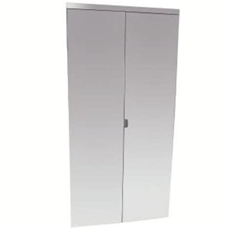 Unbreakable Impact Plus Mirror Bifold Closet Door From Bifold Mirrored Closet Doors Home Depot