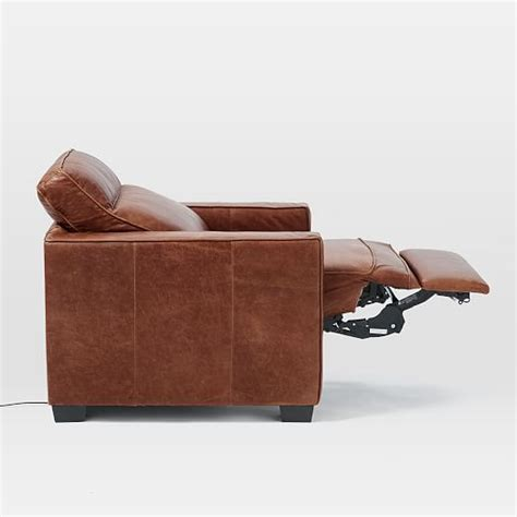 henry 174 leather power recliner chair west elm