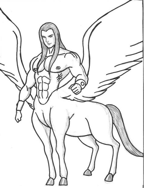 centaur girl coloring page free coloring pages of centaur