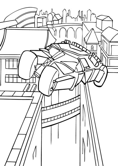 batmobil in action coloring pages hellokids com