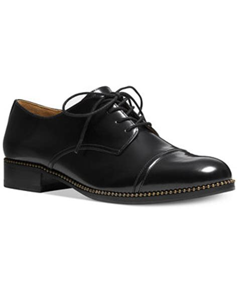 macys womens oxford shoes coach edith oxfords shoes macy s