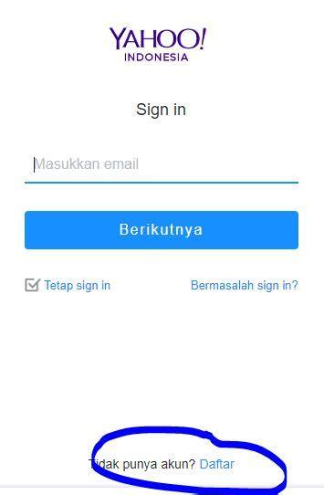cara membuat blog pakai email yahoo yaho mail carapedi indonesia