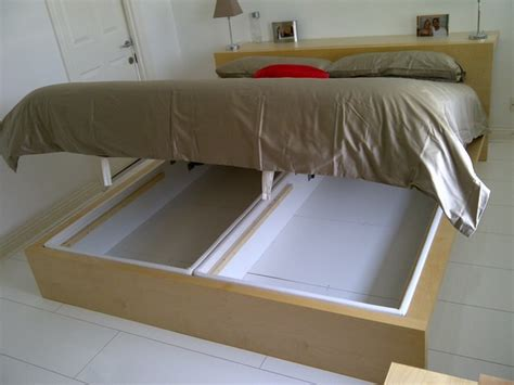 ikea hacks bed frame diy under bed storage the budget decorator