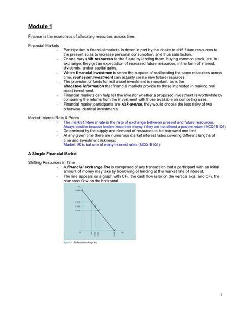 Performance Management Notes For Mba by Financial Markets Note S Mba Finance