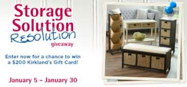 Kirklands Gift Card - kirkland s storage solution resolution giveaway sweepstakes win a 200 kirkland