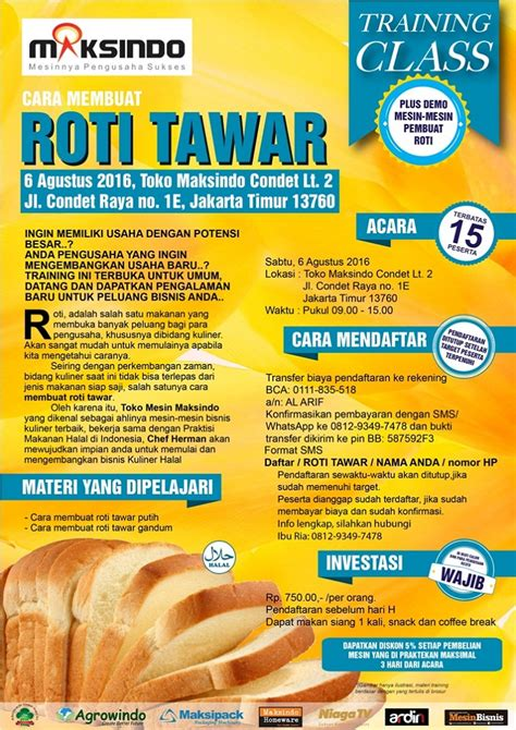 usaha membuat roti tawar training usaha roti tawar di condet 6 agustus 2016 toko