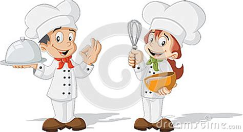 Mini Cup Cook Kartoon children chefs stock vector image 69937378