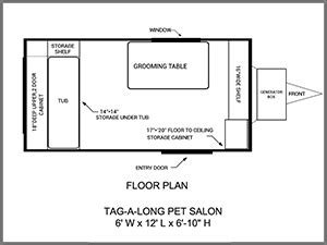 pet shop floor plan mobile dog grooming trailers for sale mobile dog grooming