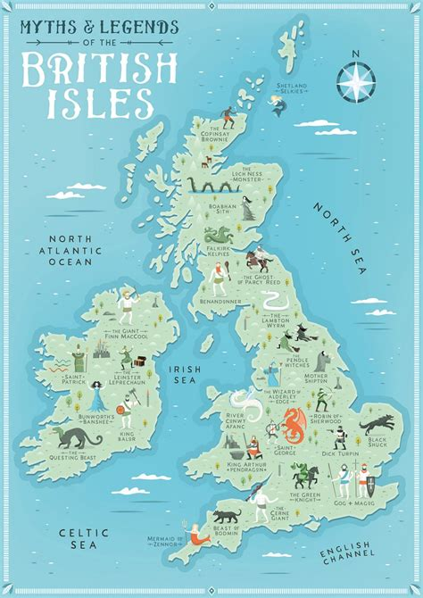 isles map myths legends of the isles map tom woolley illustration illustrated maps and